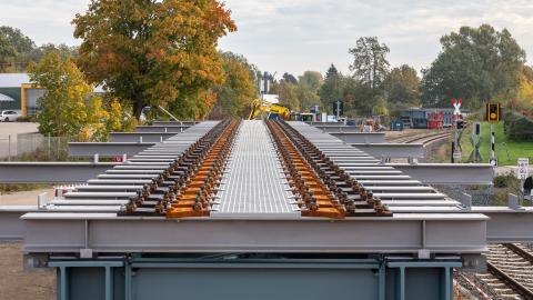 Schwentine-Brücke mit GFK Eindeckung